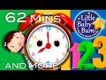 Telling Time Song | Plus Lots More Nursery Rhymes | 62 Minutes Compilation From Littlebabybum! video