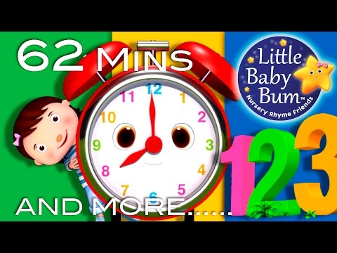 Telling Time Song | Plus Lots More Nursery Rhymes | 62 Minutes Compilation from LittleBabyBum!