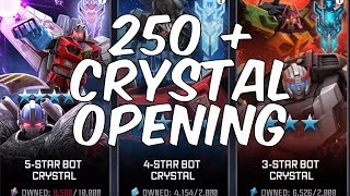 EPIC 250 + CRYSTAL OPENING! - 2 x 4 STAR BOT CRYSTALS! - TRANSFORMERS: Forged To Fight