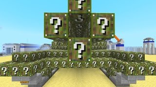 Minecraft CAMO Lucky Blocks Mod Military Base