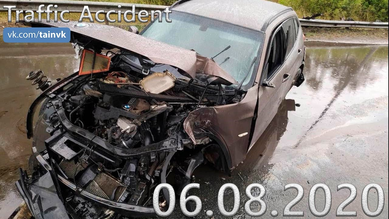 Подборка аварии ДТП на видеорегистратор от 06.08.2020 год