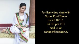 Live Chat With Your Vani Rani Favourite Stars | Thenu (Neha) | Live on 25.09.2015 | Thenu (Neha) - Vaani Rani Live chat full video 25th september 2105 at srivideo