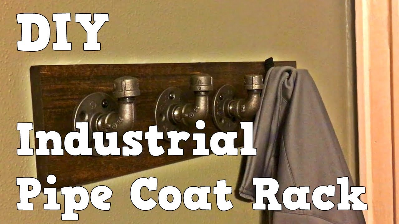 Industrial Pipe Coat Rack