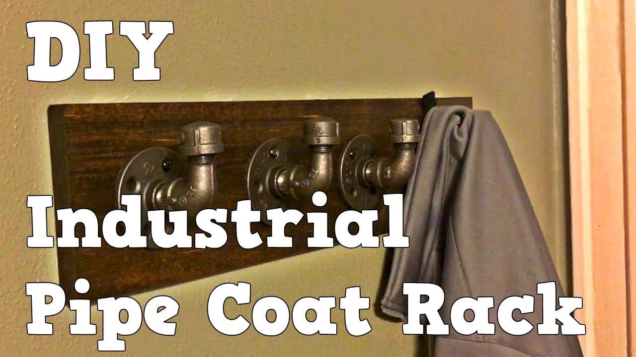 Industrial Pipe Coat Rack - Easy DIY - YouTube