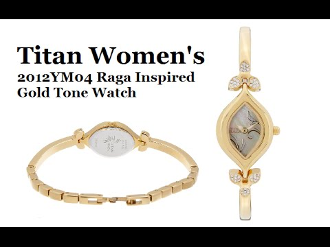f395be764b2 Titan Women s Raga Inspired Gold Tone Watch - YouTube