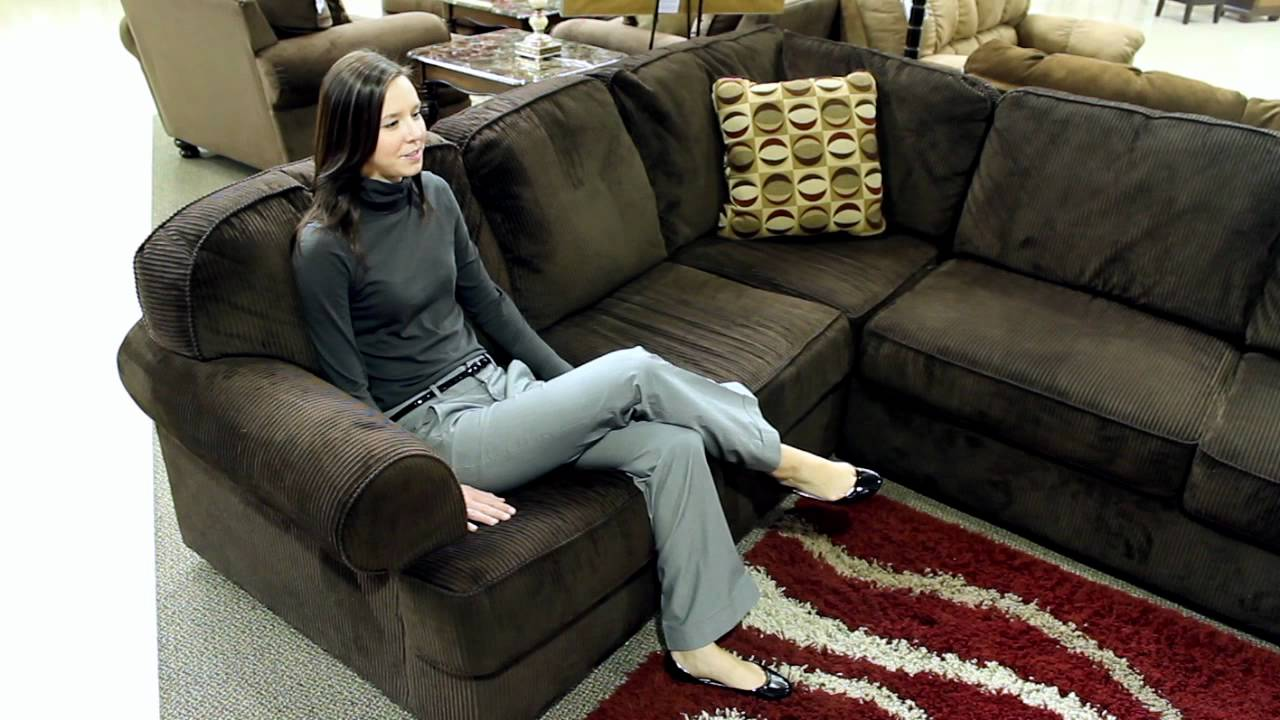 Ashley Vista Chocolate 3 Piece Sectional Youtube
