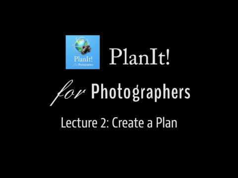 Planit! Video Tutorial Lecture 2: Create a Plan