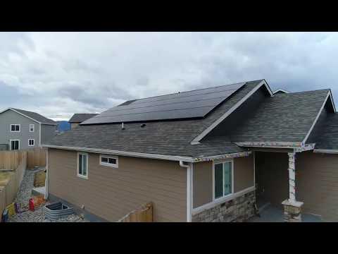 Residential Solar Panel Flyby