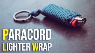 🔥Always Have Your Lighter With You! | Paracord Lighter Wrap Key Chain Tutorial