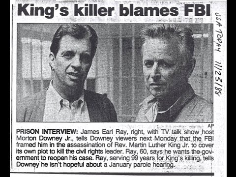 Morton Downey Jr.'s Rare Interview w/ Dr. Kings' convicted assassin James Earl Ray; a must listen.