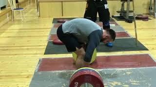 Михаил Кокляев и моя становая тяга 190 кг на 3. Работа на технику