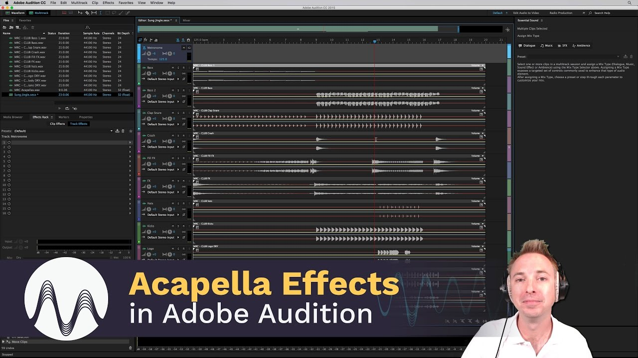 Adobe Audition Acapella Effects