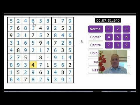 Classic and Renban sudoku: Mark vs the Clock pt 5 - YouTube