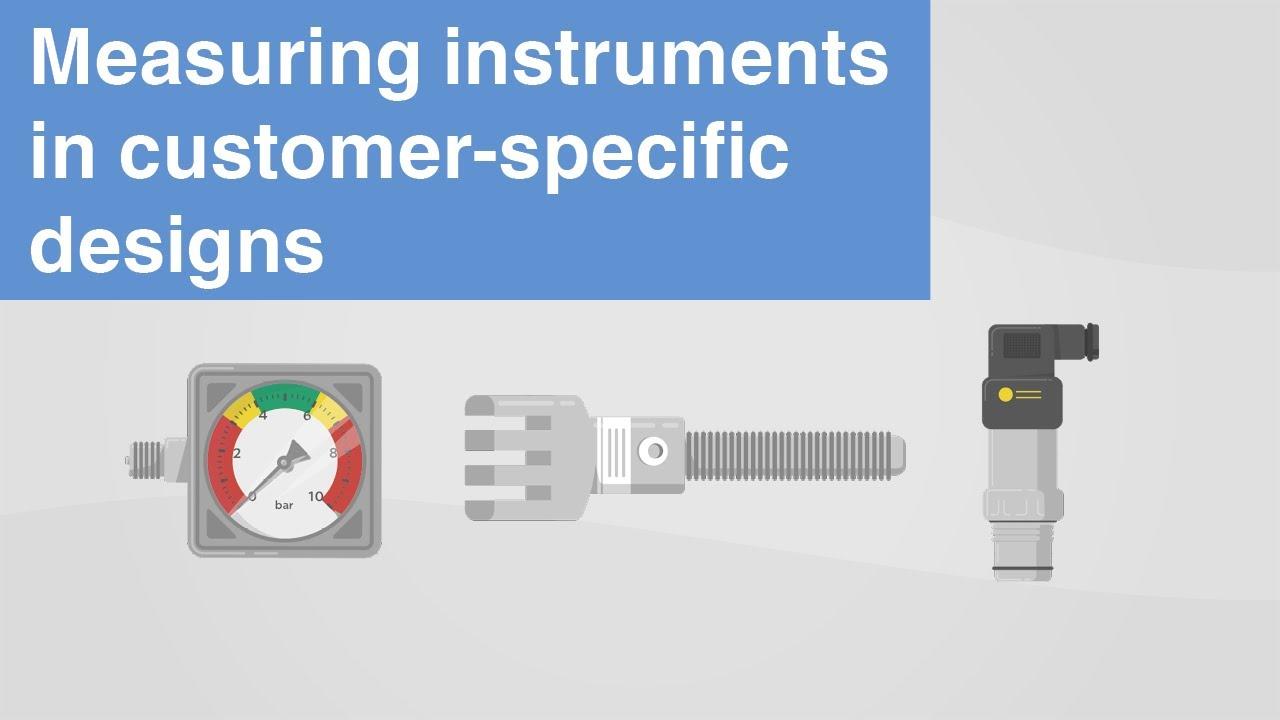 Pressure, temperature, force | WIKA measuring instruments in customer-specific designs