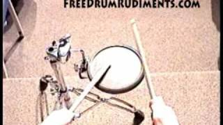 Drum Rudiments #37 - Drag Paradiddle #2 - FreeDrumRudiments.com
