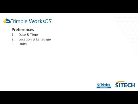 Trimble Construction Software | WorksOS - Getting Started | Tutorial