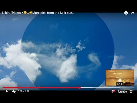Nibiru/Planet X🌞🤯☀️More pics from the Split sun...