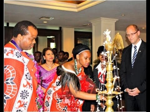 Swaziland king is in India with 15 wives, 30 children,100 servants