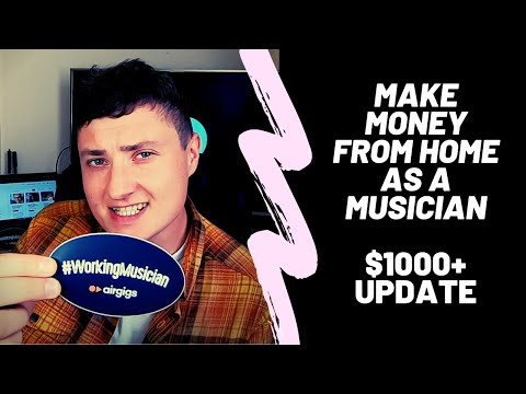 How to make money singing - ($1300+ from home) - AirGigs update