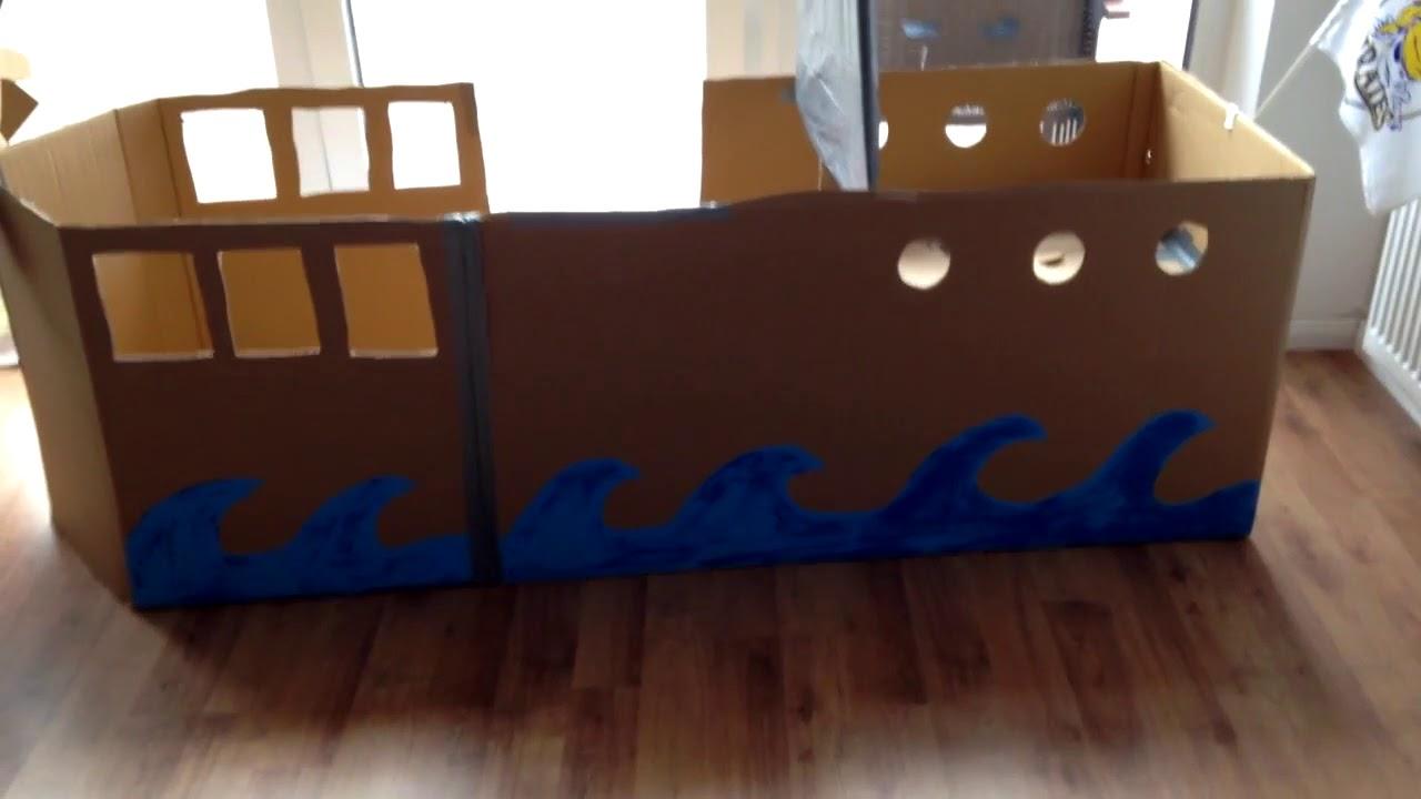 Wir Bauen Ein Piratenschiff Aus Kartons