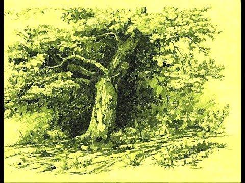 Как нарисовать дерево гуашью поэтапно. Полный урок