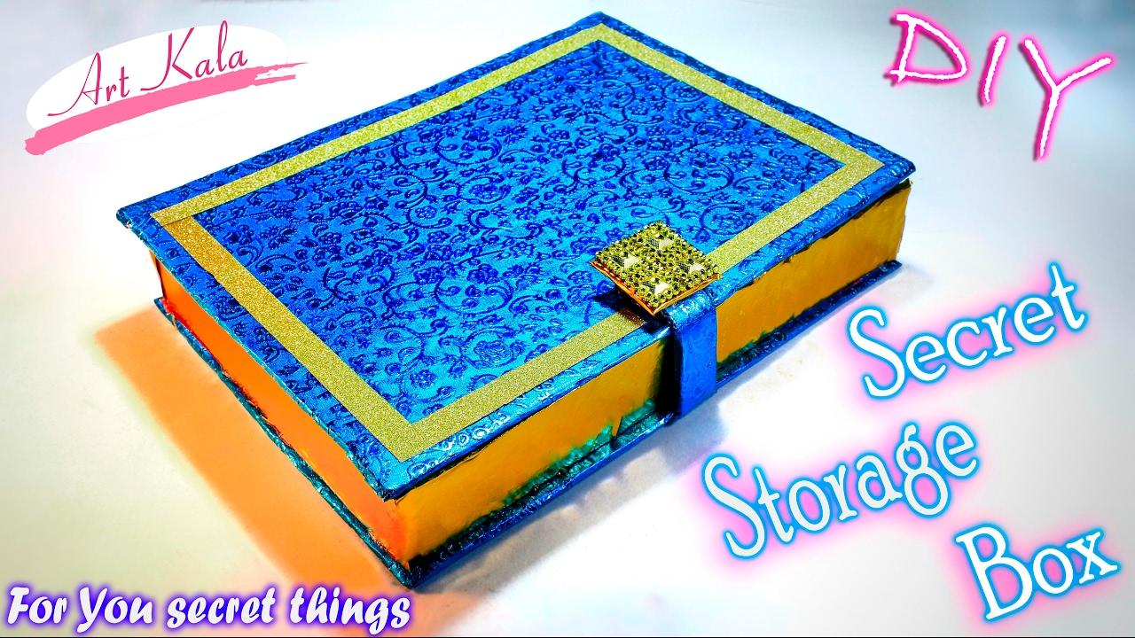 DIY Book Box Secret Storage | hidden storage Box | Artkala 104  sc 1 st  YouTube & DIY: Book Box Secret Storage | hidden storage Box | Artkala 104 ...