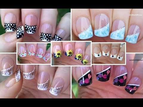 NAIL ART COMPILATION 5 French Manicure Designs