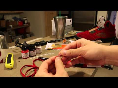 How to fix frayed shoe lace tips to look like factory lace tips