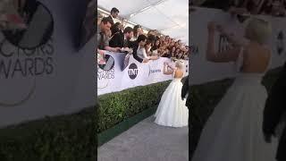 Lady Gaga Signing Autographs For Fans At the 2019 SAG Awards