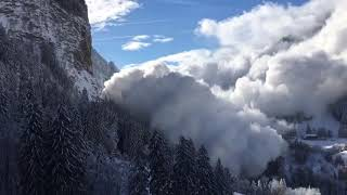 Avalanche in the Alps