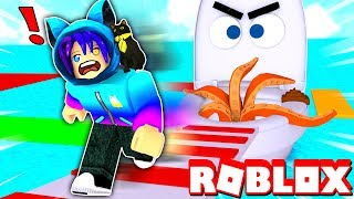 ESCAPE FROM THE TOILET OBBY IN ROBLOX! *Don't Fall Into The Water*