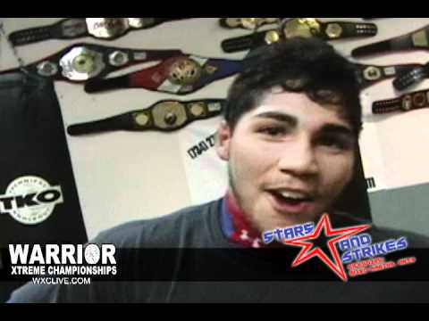 Warrior Xtreme fighter to watch, Upcoming talent - Marco Andrade