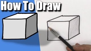 How To Draw a Cube - EASY - Step By Step