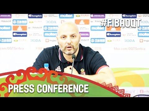 Serbia v Puerto Rico - Press Conference - 2016 FIBA Olympic Qualifying Tournament - Serbia