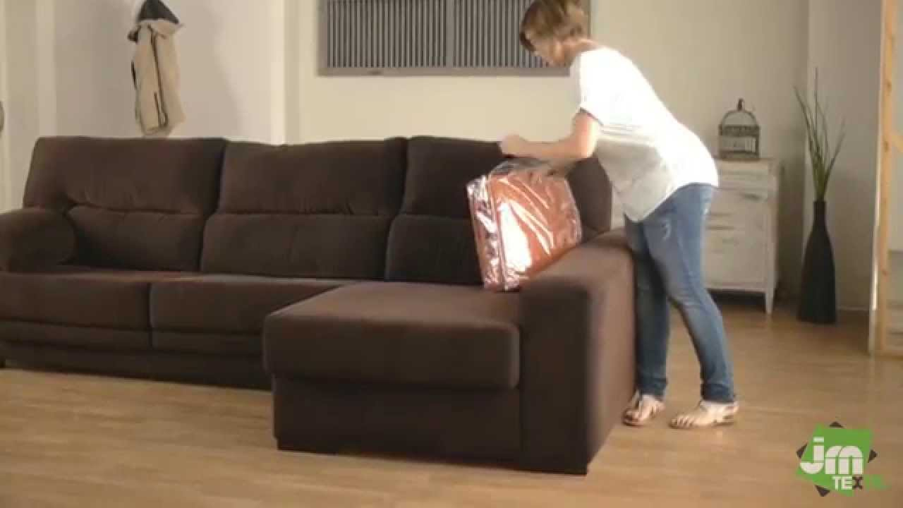how to put a stretch chaise sofa cover
