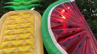 Обзор - надувной матрас ананас и арбуз