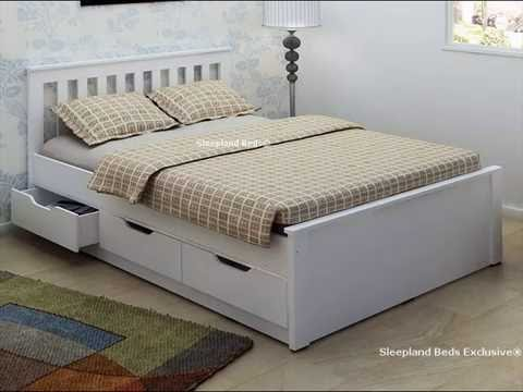 white double bed with storage drawers uk youtube 17810 | hqdefault