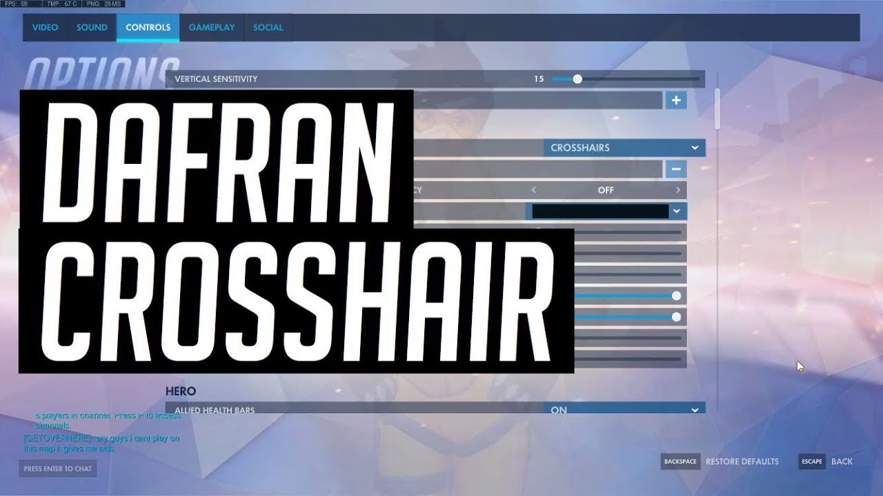 Dafran Crosshair Settings