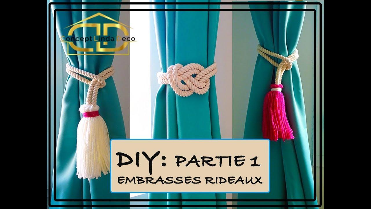 diy comment fabriquer des embrasses rideaux pompon noeud double huit 2 astuces