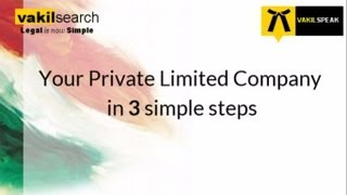 Company Registration - Introduction to Private Limited Company Incorporation / Formation in India