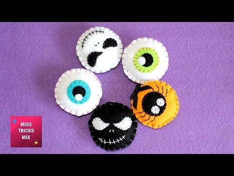 Halloween Felt Ornaments - DIY: How To Make Easy Halloween Felt Ornaments / Halloween Crafts Part#2