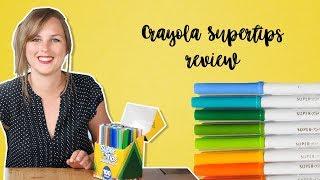 Waterverven en kleuren met Crayola Supertips 100 colors - Review 2018 Nederlands | CreaChick