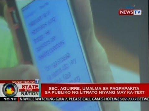 SONA: Sec. Aguirre, umalma sa pagpapakita sa publiko ng litrato niyang may ka-text