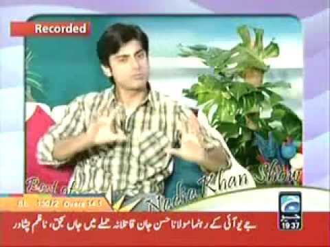 Fawad Khan~Nadia Khan Show~Interview
