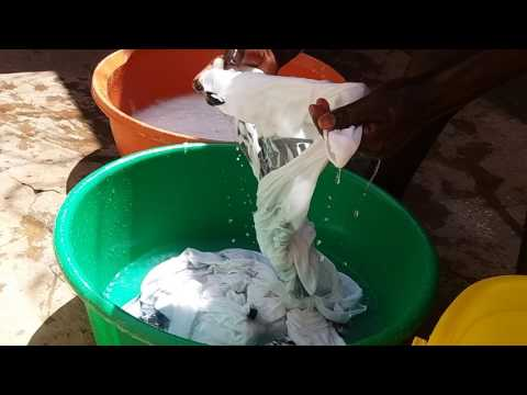 How to Wash Clothes in  the African Traditional Way Okwooza Engoye