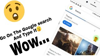 Try This Awesome Feature of Google For Thanos
