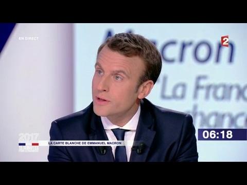 """Emmanuel Macron dans """"15 minutes pour convaincre"""" sur France 2"""