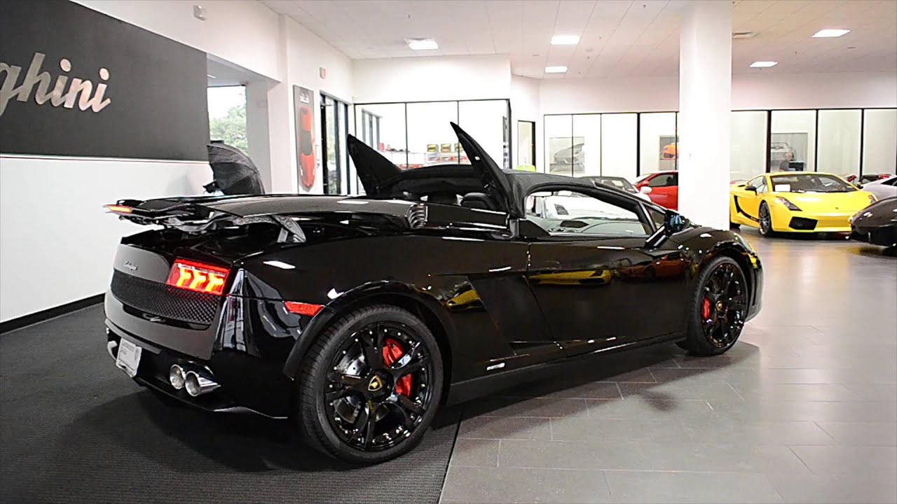2014 lamborghini gallardo spyder nero noctis ela13822. Black Bedroom Furniture Sets. Home Design Ideas