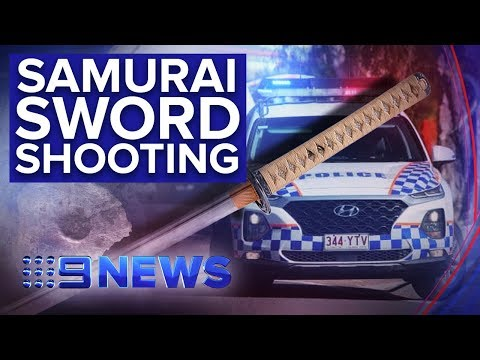 Man Armed With Samurai Sword Shot Dead By Police In Brisbane | Nine News Australia