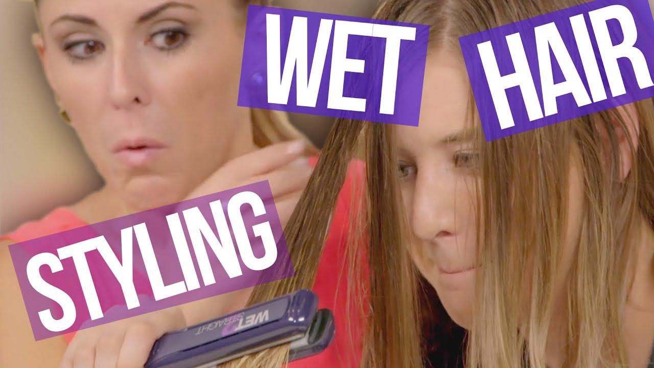Styling Wet Hair: 3 Weird Styling Tools For WET Hair (Beauty Break )